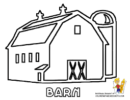 big red barn coloring page little red hen colouring pages
