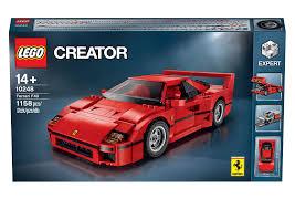 lego lamborghini veneno lego ferrari f40 announced iconic 1987 supercar u0027s blockbuster toy