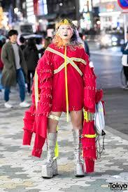 17 year old japanese designer in handmade avant garde harajuku