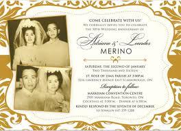 wedding anniversary invitations wedding invitation templates 50th wedding anniversary invitation