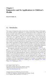 epigenetics and its applications to children u0027s health springer