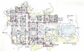 hacienda house plans with courtyard sunbelt home plan first floor