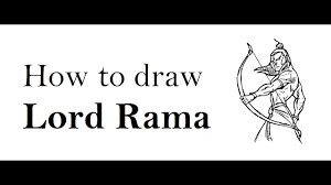 how to draw lord rama happy ram navmi drawing step by step youtube
