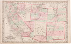 Map Of Arizona And Utah by 1863 Colton Map Of California Nevada Utah Colorado Arizona