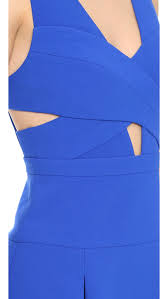 bcbgmaxazria harlie cutout dress in blue lyst