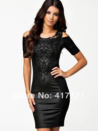 cheap off shoulder black cocktail party dress ivo hoogveld