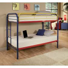 Twin Beds For Kids by Acme Furniture Thomas Twin Over Twin Metal Kids Bunk Bed 02188rnb