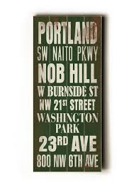 Portland Neighborhood Map Poster by Affordable Art Under 100 Inexpensive Wall Art