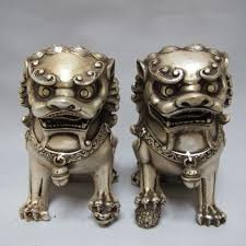 pictures of foo dogs a pair of elaborate tibetan silver guard foo dogs lion