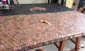 Bathroom Floor Pennies Homeroad A Penny Desk
