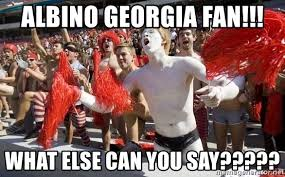 albino georgia fan what else can you say georgia bulldogs