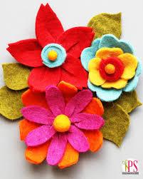 felt flowers diy felt flower tutorial felt flowers handmade felt and felting