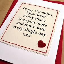 valentines day cards for him handmade cards for boyfriend quotes wishes for