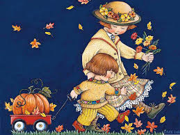 crunching in leaves on a nippy autumn day adorable