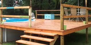 groovy above ground wooden pool deck kits u2013 cheapest way to build