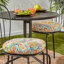 Outdoor Bistro Chair Cushions 15 Inch Outdoor Bistro Chair Cushion Set Of 2 In Painted