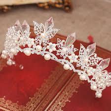 aliexpress buy beautiful pearl butterfly crown