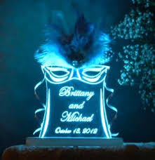 personalized mardi gras personalized mardi gras masquerade wedding cake topper optional led