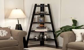 Espresso Corner Bookshelf Espresso Corner Bookcase Corner Ladder Stabilizer Five Tier