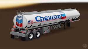semi trailer truck chevron fuel semi trailer for american truck simulator