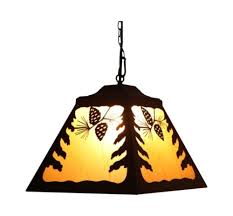 Rustic Chandeliers For Cabin Pinecone Laser Cut Tin Pendant L Rustic Chandelier Cabin Decor