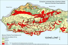 Alaska Temperature Map by Alaska Science Catalog 2014 Permafrost Database Development