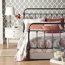 Amazoncom Weston Home Nottingham Metal Spindle Bed Kitchen  Dining - White bedroom furniture nottingham