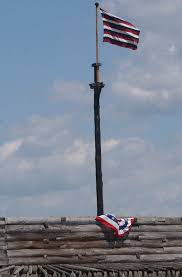 American Flag How Many Stripes Red White Blue And Gold Fort Stanwix National Monument U S