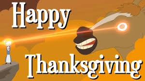 happy thanksgiving gifs happy thanksgiving from the creatures animation youtube