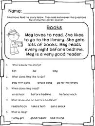 stories for comprehension beginning early comprehension stories and questions by klever kiddos