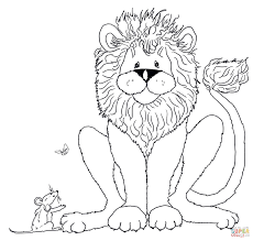 the lion and mouse coloring pages speaks to mickey head page