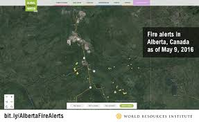 Canada Wildfire App by Visual Proof That The Alberta Wildfires Are Unlikely To End Soon
