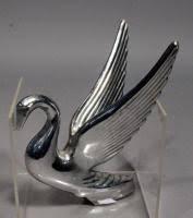 vintage chrome flying swan packard ornament 6 5 wings 7 5