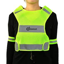 mens hi vis cycling jacket reflective vest for running jogging or cycling yellow with 2
