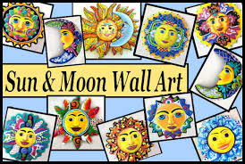 Garden Metal Decor Handcrafted Metal Sun And Moon Wall Art Haitian Steel Drum Metal Art