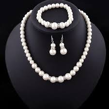 bracelet earring jewelry necklace images Europe brand simulated pearl necklace bracelet earrings women jpg