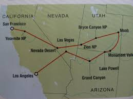 Map Of California And Arizona our intrepid usa camping trip u2013 aug sept 2011 kerry and lesley