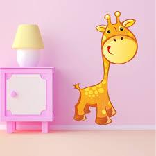 stickers girafe chambre bébé girafe