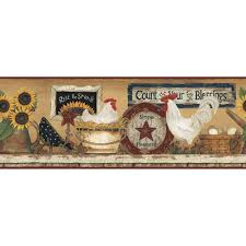 york wallcoverings hen and rooster wallpaper border cb5539bd the