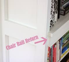 creating a chair rail return shine your light