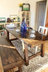 how to build a farmhouse table and benches rustic decor
