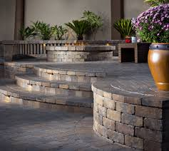 belgard fire pit our happy customers with their newly installed angelus courtyard