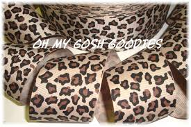 leopard ribbon leopard ribbon cheetah ribbon animal print leopard grosgrain