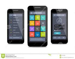vector mobile ui design with login stock vector image 53479265