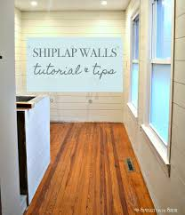 Laminate Flooring For Walls Tutorial And Tips For Using Shiplap Walls In The Bathroom