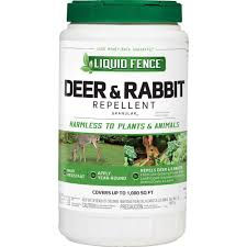 liquid fence 2 lb deer and rabbit repellent granules hg 70266