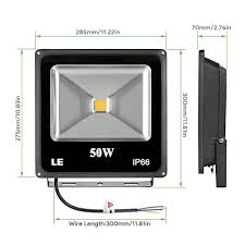 Econolight Wall Pack by Le 50w Super Bright Outdoor Led Flood Lights 150w Hps Bulb