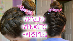 gymnastics picture hair style 3 hairstyle ideas for gymnasts youtube