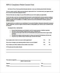 hipaa consent form sample 8 examples in word pdf