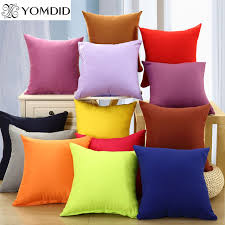 taie coussin canapé solide couleur housse de coussin canapé tissu doux taie d oreiller